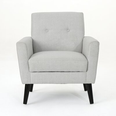 Soares Club Chair Upholstery: Light Gray