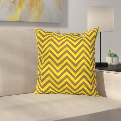 Chevron Vintage Country Square Cushion Pillow Cover Size: 16 x 16