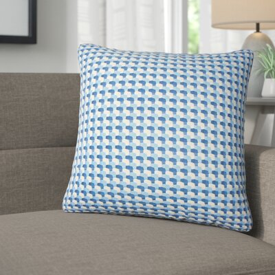 Salma Geometric Throw Pillow Color: Bluebell