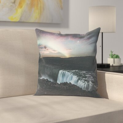 Luke Gram Dettifoss Iceland Ii Throw Pillow Size: 18 x 18