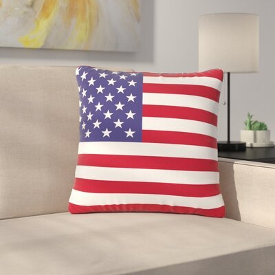Bruce Stanfield Flag of USA Contemporary Digital Outdoor Throw Pillow Size: 16 H x 16 W x 5 D