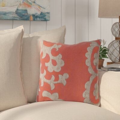 Butler Scroll Outdoor Throw Pillow Size: 18, Color: Orange