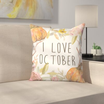 Jetty Printables I Love October Throw Pillow Size: 16 x 16