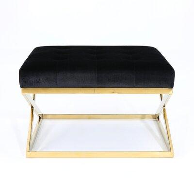 Sprenger Ottoman Upholstery: Black, Finish: Gold