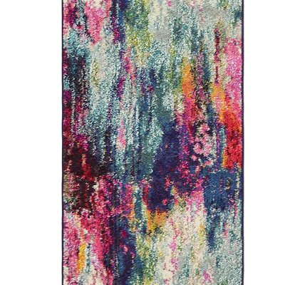 Darrick Blue/Red Area Rug Rug Size: Rectangle 9 x 12