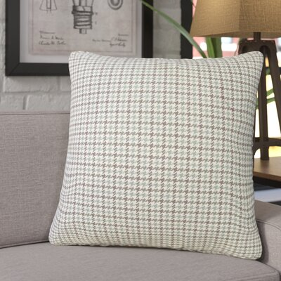 Franklyn Houndstooth Down Filled 100% Cotton Throw Pillow Size: 18 x 18