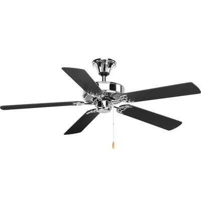 Penfield 5 Blade Ceiling Fan Motor Finish: Chrome