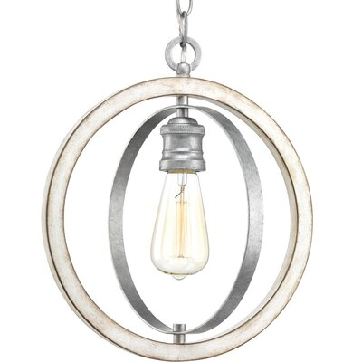 Mccurley 1-Light Globe Pendant Finish: Galvanized