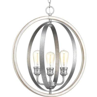 Mccurley 3-Light Pendant Finish: Galvanized