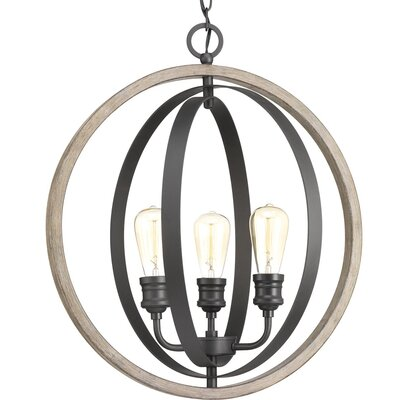 Mccurley 3-Light Pendant Finish: Graphite