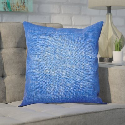 Portsmouth Solid Burlap Throw Pillow Color: Navy Blue, Size: 20 H x  20 W