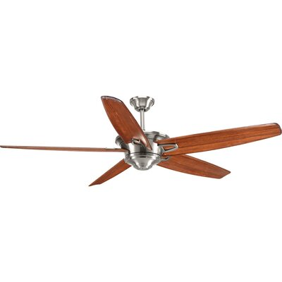 Gehl 5 Blade Ceiling Fan Motor Finish: Chrome