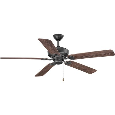 Pennington 5 Blade Outdoor Ceiling Fan Finish: Black with Forged Black Blades