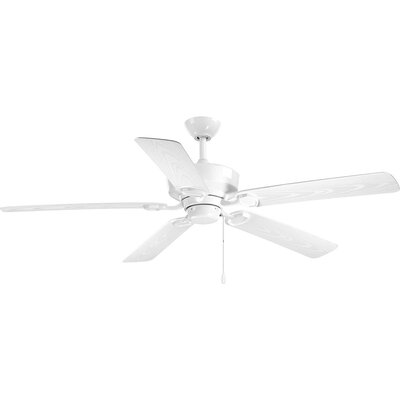 Pennington 5 Blade Outdoor Ceiling Fan Finish: White