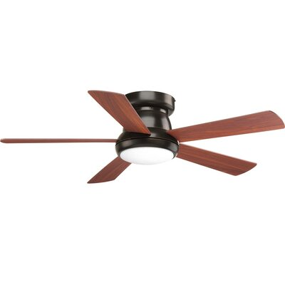 Mccurry 5 Blade LED Ceiling Fan with Remote Finish: Black with Brown Blades