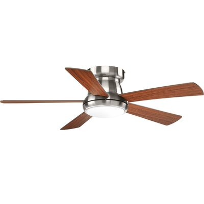 Mccurry 5 Blade LED Ceiling Fan with Remote Finish: Chrome with Brown Blades