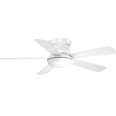 Mccurry 5 Blade LED Ceiling Fan with Remote Finish: White