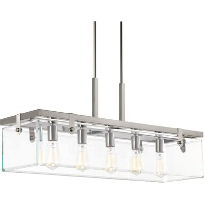 Bridgewood 5-Light Kitchen Island Pendant Color: Brushed Nickel