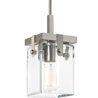 Bridgewood 1-Light Mini Pendant Color: Brushed Nickel