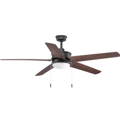 Vanegas 5 Blade Outdoor Ceiling Fan Finish: Black with Forged Black Blades