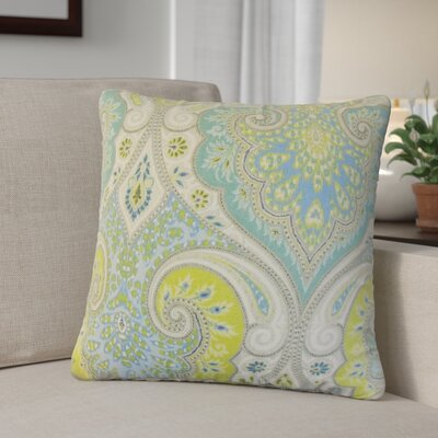 Derosier Damask Linen Throw Pillow Color: Green