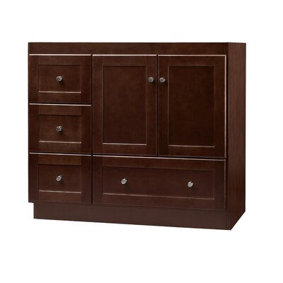 Shaker Cabinet 36 Single Bathroom Vanity Base Finish: Dark Cherry