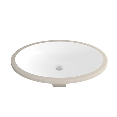 Compass Ceramic Oval Undermount Bathroom Sink with Overflow