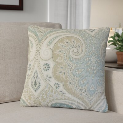 Derosier Damask Linen Throw Pillow Color: Light Blue