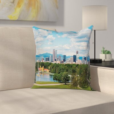 Sunny City Park at Denver Square Pillow Cover Size: 18 x 18