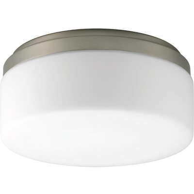 Siddharth 1-Light LED Flush Mount Fixture Finish: Brushed Nickel, Size: 5.25 H x 18 W x 18 D