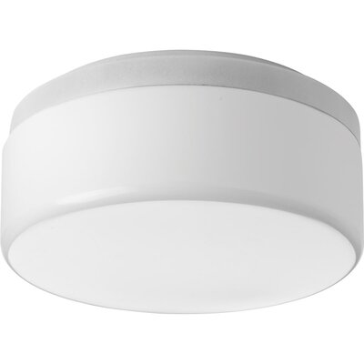 Siddharth 1-Light LED Flush Mount Fixture Finish: White, Size: 5.25 H x 18 W x 18 D