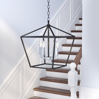Beckford 4-Light Foyer/Lantern Pendant Size: 20.75 H x 17.25 W x 17.25 D