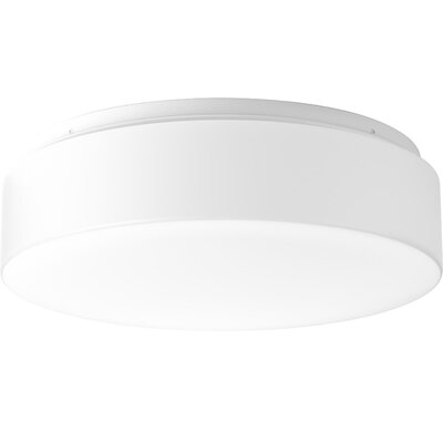 Mcculloch 1-Light LED Flush Mount Fixture Finish: White, Size: 4.13 H x 13.63 W x 13.63 D