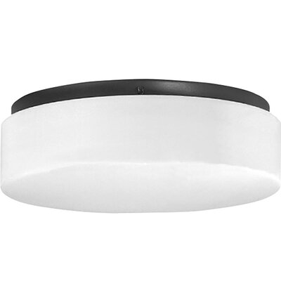Mcculloch 1-Light LED Flush Mount Fixture Finish: Black, Size: 4.13 H x 11.13 W x 11.13 D