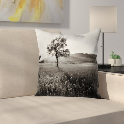 Lonely Tree Square Pillow Cover Size: 24 x 24