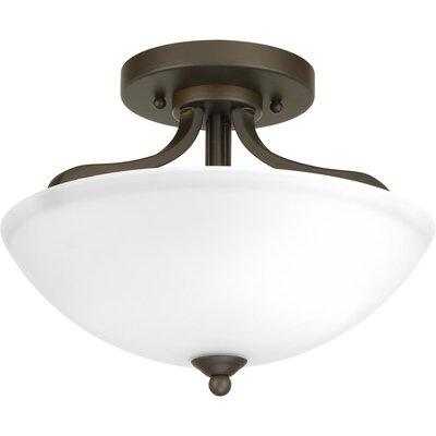Van Reipen 2-Light Semi Flush Mount Fixture Finish: Antique Bronze