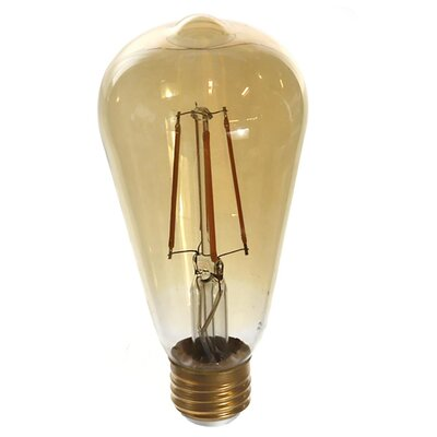 6W E26/Medium LED Vintage Filament Light Bulb