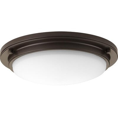 Vanderhoff 1-Light LED Flush Mount Fixture Finish: Architectural Bronze, Size: 3.69 H x 15 W x 3.69 D