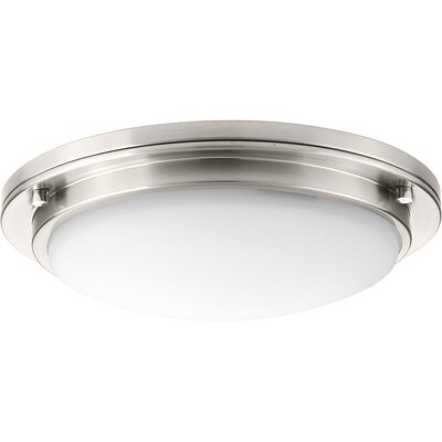Vanderhoff 1-Light LED Flush Mount Fixture Finish: Brushed Nickel, Size: 3.69 H x 15 W x 3.69 D