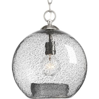 Cebes 1-Light Pendant Finish: Brushed Nickel