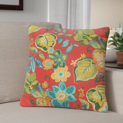 Windy Outdoor Throw Pillow Size: 20 H x 20 W, Color: Red / Green / Blue
