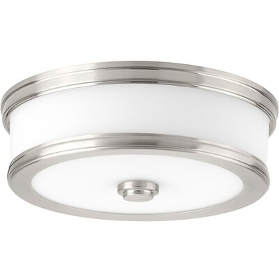 Vanderhoof 1-Light LED Flush Mount Fixture Finish: Brushed Nickel, Size: 3.50 H x 10.50 W x 10.50 D