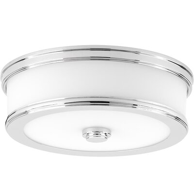 Vanderhoof 1-Light LED Flush Mount Fixture Finish: Polished Chrome, Size: 3.88 H x 13 W x 13 D