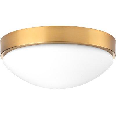 Kieron 1-Light LED Flush Mount Fixture Finish: Brushed Bronze