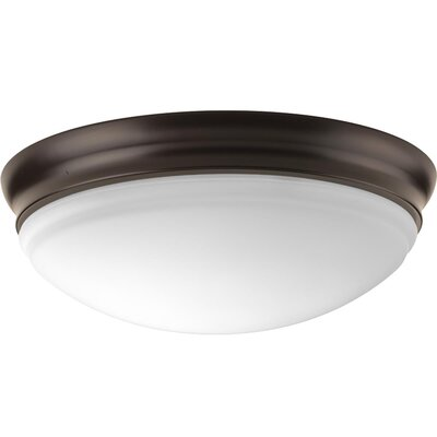Mccully 1-Light LED Flush Mount Fixture Finish: Antique Bronze, Size: 4.25 H x 11 W x 11 D