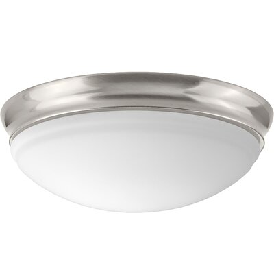 Mccully 1-Light LED Flush Mount Fixture Finish: Brushed Nickel, Size: 4.50 H x 13.50 W x 13.50 D