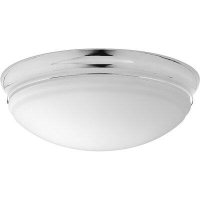 Mccully 1-Light LED Flush Mount Fixture Finish: Polished Chrome, Size: 4.50 H x 13.50 W x 13.50 D