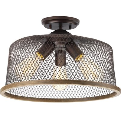 Murillo 3-Light Semi Flush Mount Fixture Finish: Antique Bronze