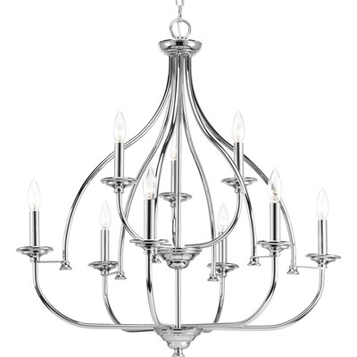 Perot 9-Light Candle-Style Chandelier Finish: Polished Chrome