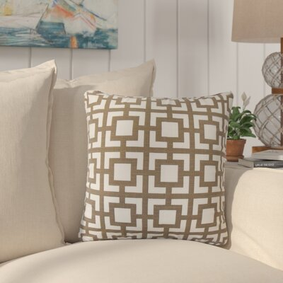 Packer Modern Geometric Cotton Throw Pillow Color: Brown
